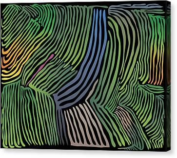 Tropical Striations Canvas Print
