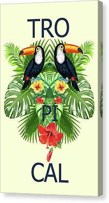 Tropical Canvas Print - Tropical Summer  by Mark Ashkenazi