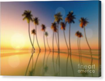 Tropical Sunset Canvas Print by Aleksey Tugolukov