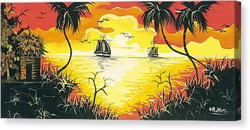Tropical Sunset Canvas Print by Herold Alvares