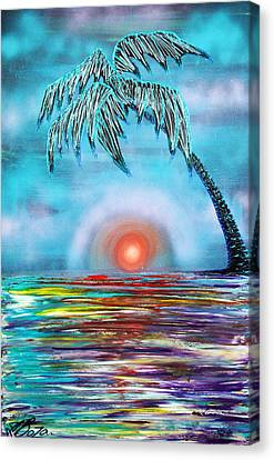 Tropical Sunset Canvas Print by Laura Barbosa