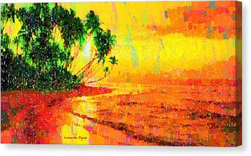 Complex Canvas Print - Tropical Sunset - Pa by Leonardo Digenio