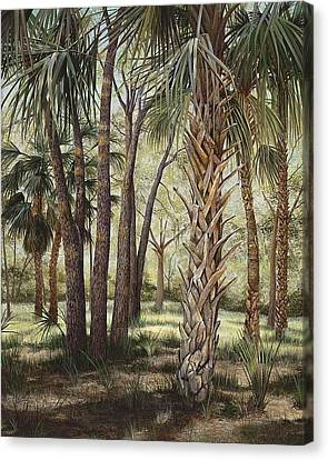 Tropical Trail's End Canvas Print by AnnaJo Vahle