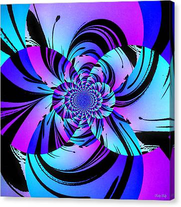 Canvas Print featuring the digital art Tropical Transformation by Kathy Kelly