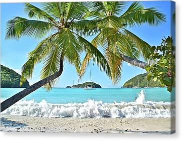 Tropical Beach Canvas Print - Tropical Treat by Frozen in Time Fine Art Photography
