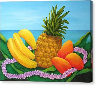 Tropical Trinity Canvas Print by Pamela Allegretto
