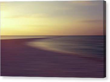 Tropical Twilight On The Sandbank Canvas Print