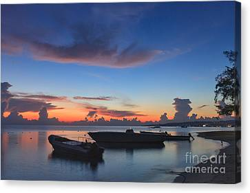 Tropical Twilight Two Canvas Print by Charles Kozierok