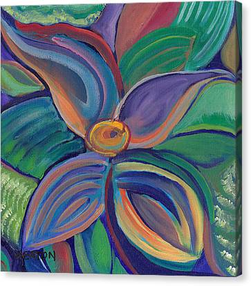 Canvas Print featuring the painting Tropical Vision by John Keaton