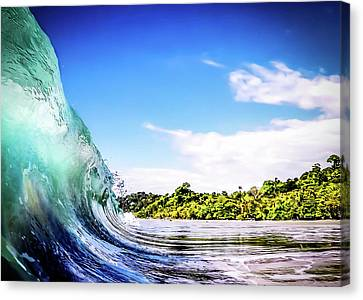 Canvas Print featuring the photograph Tropical Wave by Nicklas Gustafsson