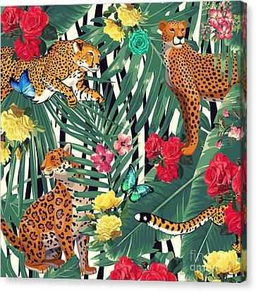 Tropical Wild  Canvas Print
