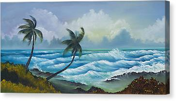 Tropical Wind Canvas Print by George Bloise