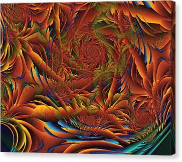 Canvas Print featuring the digital art Tropicana Fantasy by Richard Ortolano