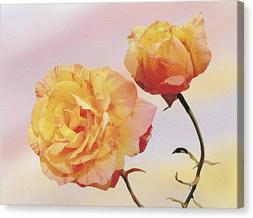 Tropicana Roses Canvas Print by Jan Baughman