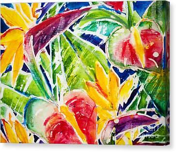 Tropics - Floral Canvas Print by Julie Kerns Schaper - Printscapes
