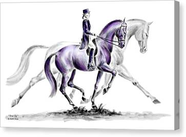 Trot On - Dressage Horse Print Color Tinted Canvas Print by Kelli Swan