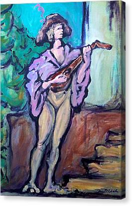 Troubadour Canvas Print by Kevin Middleton
