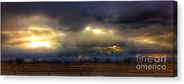 Troubled Skies Over Idaho Canvas Print