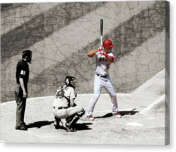 Trout At Bat Canvas Print