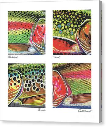 Canvas Print - Trout Colors by Jon Q Wright