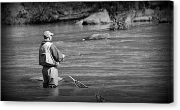Trout Stream Landscape Canvas Print - Trout Fishing 1 by Todd Hostetter