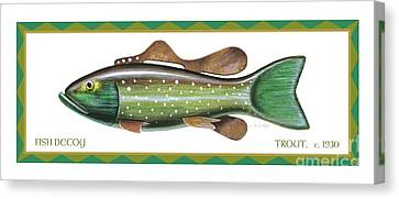 Canvas Print - Trout Ice Fishing Decoy by Jon Q Wright