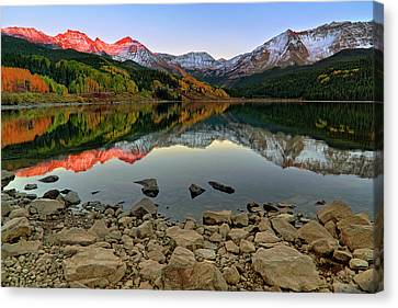 Canvas Print featuring the photograph Trout Lake Reflections - Colorado - Rocky Mountains by Jason Politte