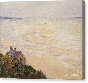 Trouville At Low Tide Canvas Print by Claude Monet