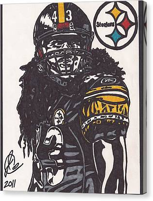 Steelers Canvas Print - Troy Polomalu 1 by Jeremiah Colley