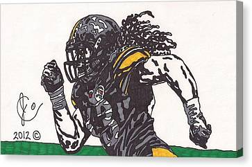Steelers Canvas Print - Troy Polomalu 2 by Jeremiah Colley