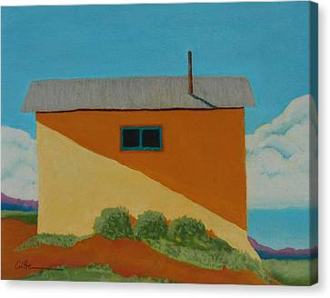 Truchas House Canvas Print by Diane Cutter