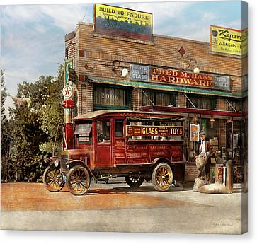 Truck - Delivery - Haas Has It 1924 Canvas Print by Mike Savad