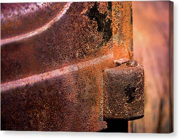 Canvas Print featuring the photograph Truck Door Hinge by Onyonet  Photo Studios