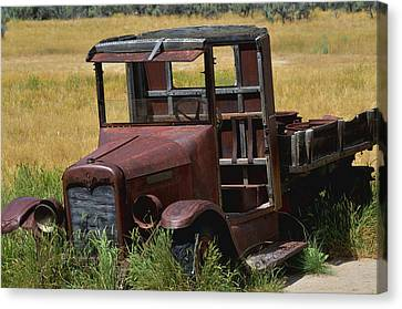 Canvas Print featuring the photograph Truck Long Gone by Kae Cheatham