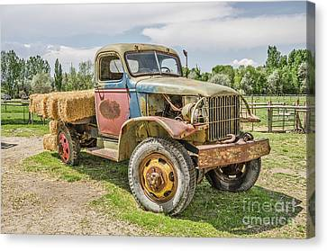Canvas Print featuring the photograph Truck Of Many Colors by Sue Smith