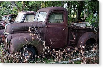 Truck Stop Canvas Print by Ed Waldrop