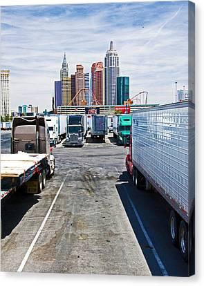 Truckers Visit Vegas.2 Canvas Print