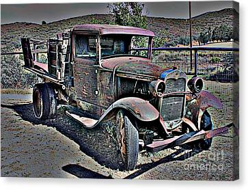 Truckin' Green Acres Style 2 Canvas Print