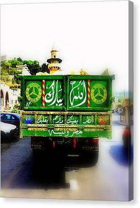 Trucking Across Lebanon Canvas Print by Funkpix Photo Hunter