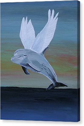 Canvas Print featuring the painting True Angel 3 by Eric Kempson