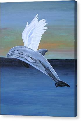 Canvas Print featuring the painting True Angel 4 by Eric Kempson