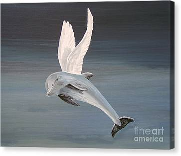 Canvas Print featuring the painting True Angel by Eric Kempson