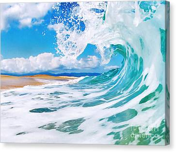 Power Canvas Print - True Blue by Paul Topp