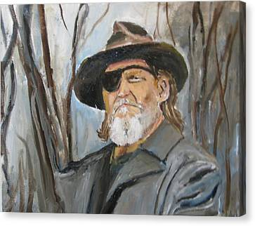 True Grit Jeff Bridges Canvas Print by Udi Peled