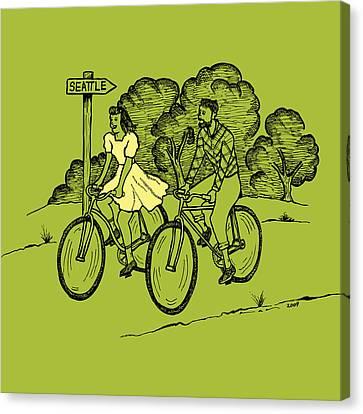 True Romance Bike Ride Canvas Print by Karl Addison