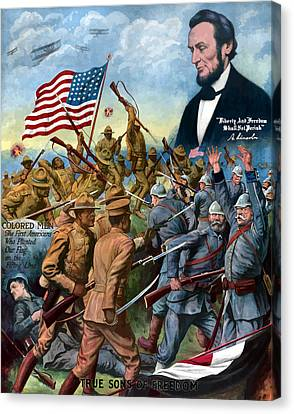 True Sons Of Freedom -- Ww1 Propaganda Canvas Print by War Is Hell Store
