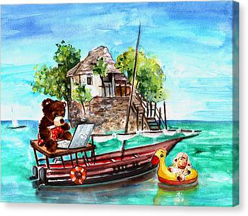 Truffle Mcfurry And Mary In Zanzibar Canvas Print by Miki De Goodaboom