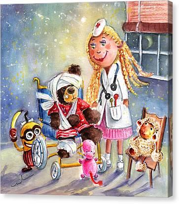 Truffle Mcfurry And The Minion Canvas Print by Miki De Goodaboom