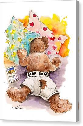 Truffle Mcfurry Hates Mondays Canvas Print by Miki De Goodaboom