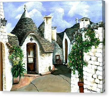 Trulli Canvas Print by Sarah Farren